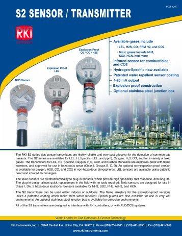 S2 SENSOR / TRANSMITTER - RKI Instruments