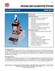 DOCKING AND CALIBRATION STATION - RKI Instruments