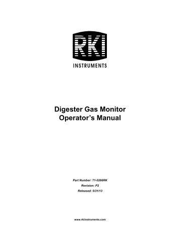 Digester Gas Monitor Operator's Manual - RKI Instruments