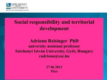 Social responsibility and territorial development