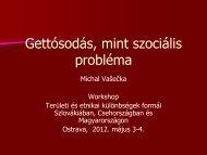 Gettósodás, mint szociális probléma