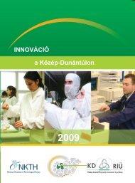 Innováció a Közép-Dunántúlon 2009. - MTA Regionális Kutatások ...
