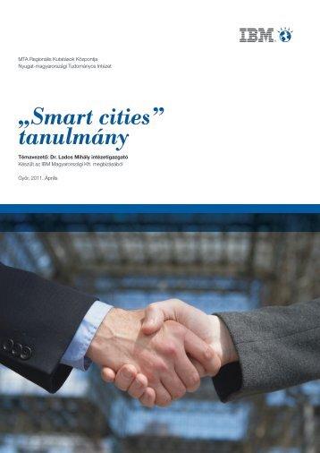 """""""Smart cities"""" tanulmány - MTA Regionális Kutatások Központja"""