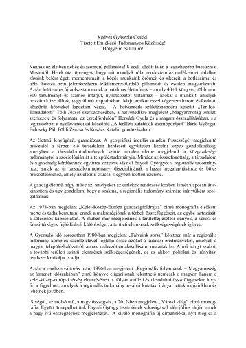 Rechnitzer János - MTA Regionális Kutatások Központja