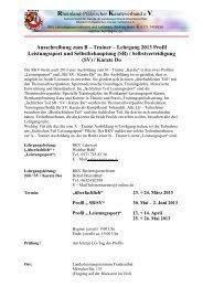 Ausschreibung zum B – Trainer – Lehrgang 2013 Profil ...