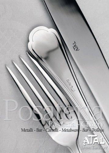 POSA TERIA - Metalli  - Bar - Carrelli - III - Atal