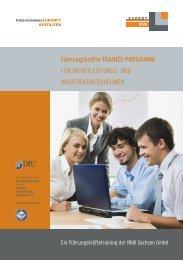 Broschüre Trainee Programm - RKW Sachsen
