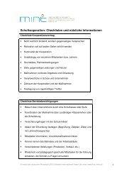 Schulkooperation: Checklisten und nützliche Informationen - RKW