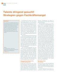 Talente dringend gesucht! Strategien gegen Fachkräftemangel - RKW