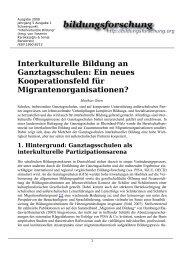 Interkulturelle Bildung an Ganztagsschulen - RKW Kompetenzzentrum