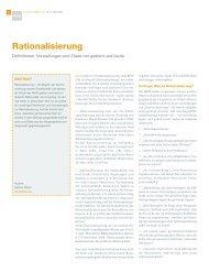 Rationalisierung - RKW Kompetenzzentrum