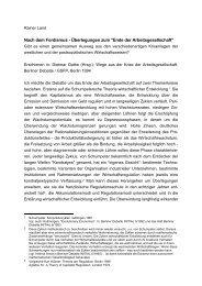 Nach dem Fordismus. Überlegungen zum - Rainer Land Online Texte