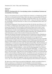 Kritik der Wachstumskritik - Rainer Land Online Texte