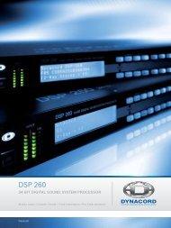 Prospekt DSP 260 - Dynacord