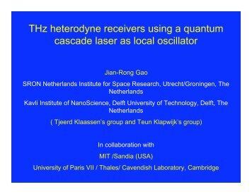 THz heterodyne receivers using quantum-cascade lasers as local ...