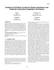 Analysis of Full-Wave Conductor System Impedance over Substrate ...