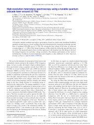 High-resolution heterodyne spectroscopy using a tunable quantum ...