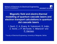 Magnetic field and electro-thermal modelling of quantum cascade ...