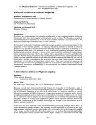 Ab-Initio Calculations of Materials Properties - Research Laboratory ...
