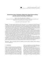 Quantization Index Modulation Methods for Digital Watermarking and