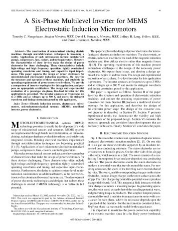 A Six-Phase Multilevel Inverter for MEMS - Research Laboratory of ...