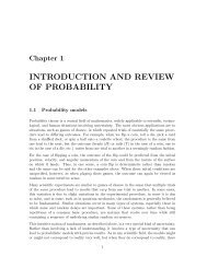 INTRODUCTION AND REVIEW OF PROBABILITY