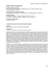 Organic Optics and Electronics - Research Laboratory of Electronics ...