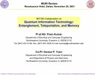 Quantum Information Technology: Entanglement, Teleportation ... - MIT