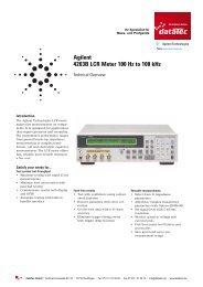 Agilent 4263B LCR Meter 100 Hz to 100 khz - datatec Gmbh