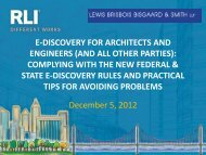 e-discovery for architects and engineers - RLI Design Professionals