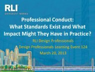 Professional Conduct - RLI Design Professionals