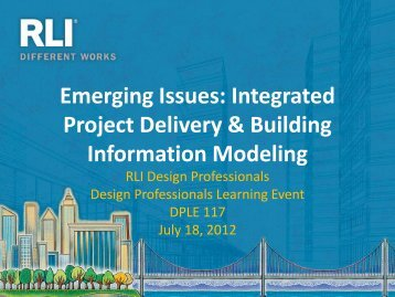 Integrated Project Delivery & Building Information Modeling