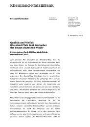 Download Presseinformation - Rheinland Pfalz Bank
