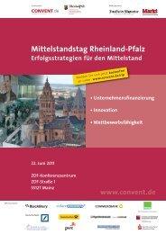 Programm Mittelstandstag Rheinland-Pfalz 2011