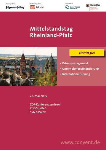 Mittelstandstag Rheinland-Pfalz 2009 - Rheinland Pfalz Bank