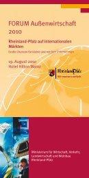 FORUM Außenwirtschaft 2010 - Rheinland Pfalz Bank