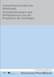 Generationenwechsel im Mittelstand - Rheinland Pfalz Bank