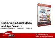 Einführung in Social Media und App Business - Rheinland Pfalz Bank