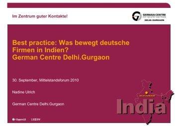 Best practice: Was bewegt deutsche Firmen in Indien? German Centre ...