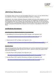 Jährliches Dokument 2007 - Rheinland Pfalz Bank