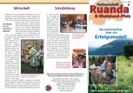 Erfolgsmodell - Partnerschaft Ruanda