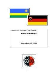 Jahresbericht 2008 - Partnerschaft Rheinland-Pfalz-Ruanda e.V.