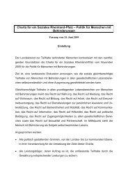 Charta für ein Soziales Rheinland-Pfalz - in Rheinland-Pfalz