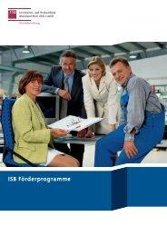ISB Förderprogramme - in Rheinland-Pfalz