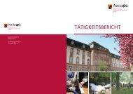 TäTigkeiTsberichT - in Rheinland-Pfalz