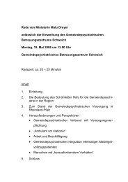 Rede von Ministerin Malu Dreyer anlässlich der Einweihung des ...