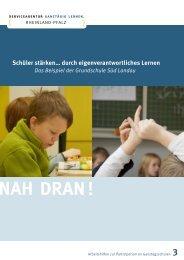 Schüler stärken… durch eigenverantwortliches ... - Ganztägig Lernen