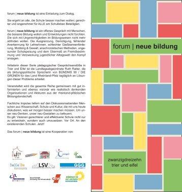 forum   neue bildung - Landesjugendring Rheinland-Pfalz