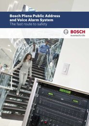 Bosch Plena Public Address and Voice Alarm ... - Ela-Data Gmbh