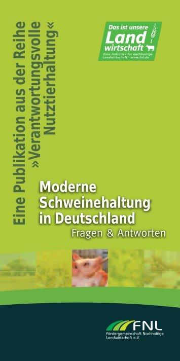 Moderne Schweinehaltung in Deutschland - FNL